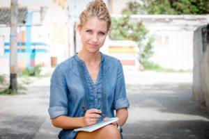Patty de tekstschrijver op Curacao